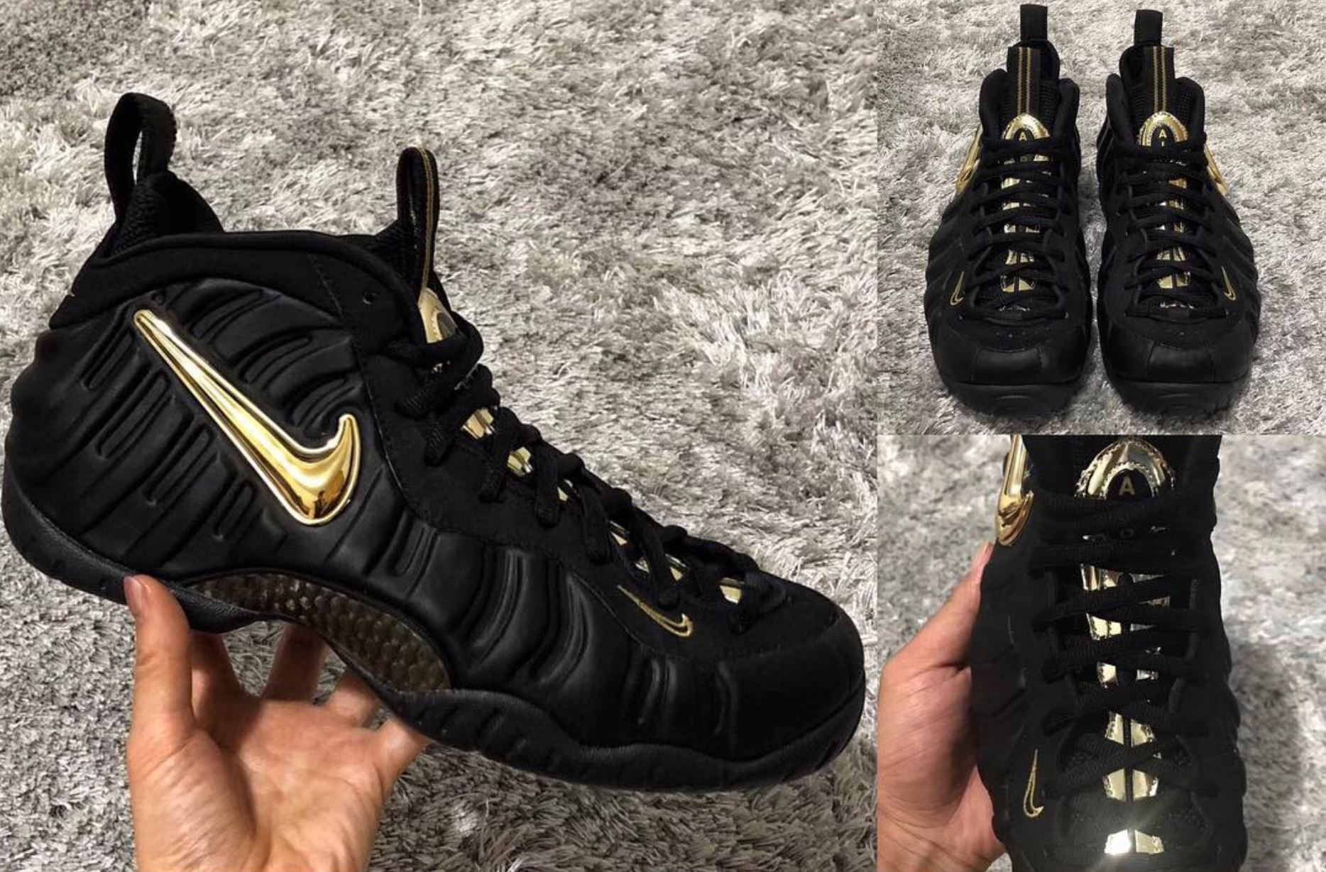 new concept 60038 8c81c nike air foamposite pro black gold · Kicks On Court   Nike   Retro  Lifestyle ...