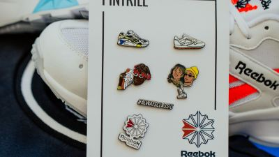 PINTRILL REEBOK AZTREK pin set 1