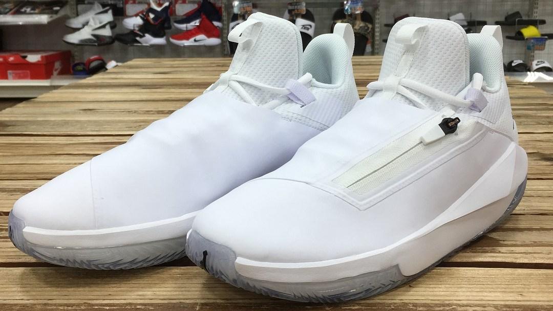The Jordan Jumpman Hustle  Triple White  Surfaces Overseas - WearTesters 0b35d157f