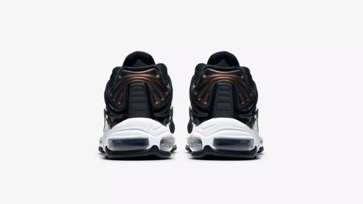 nike air max deluxe black multicolor heel
