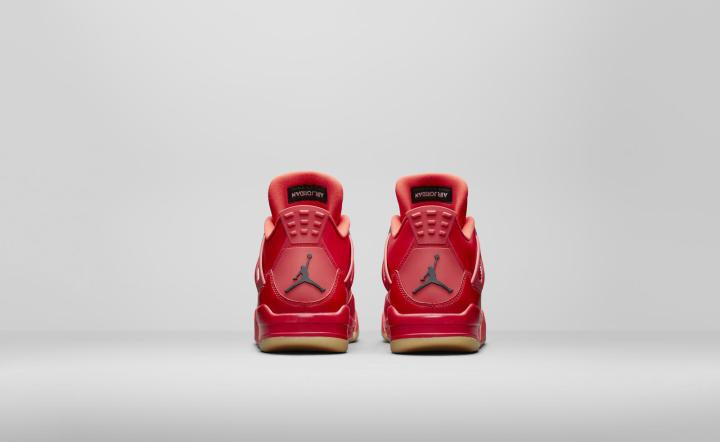 Air Jordan 4 fire red womens heels