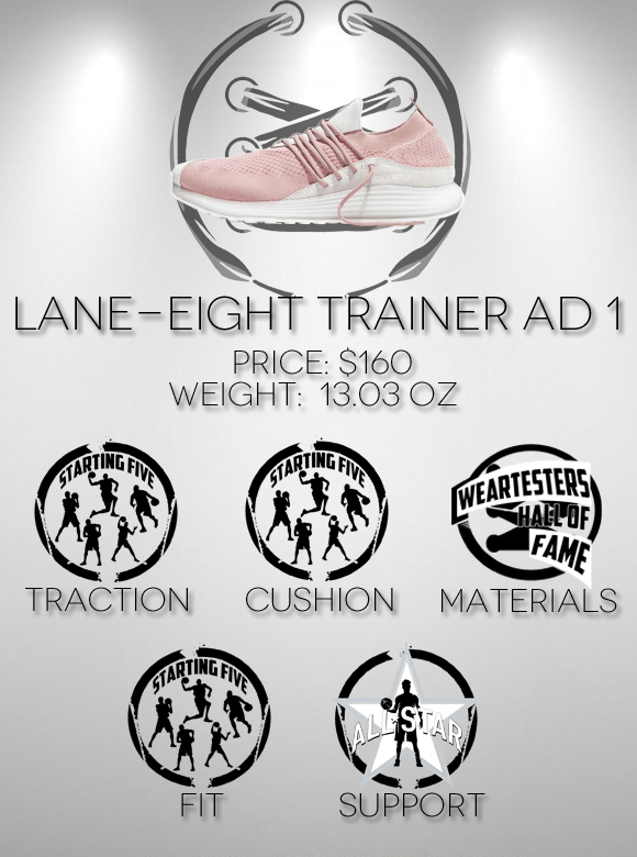 LANE EIGHT Trainer AD 1 Performance Review scores