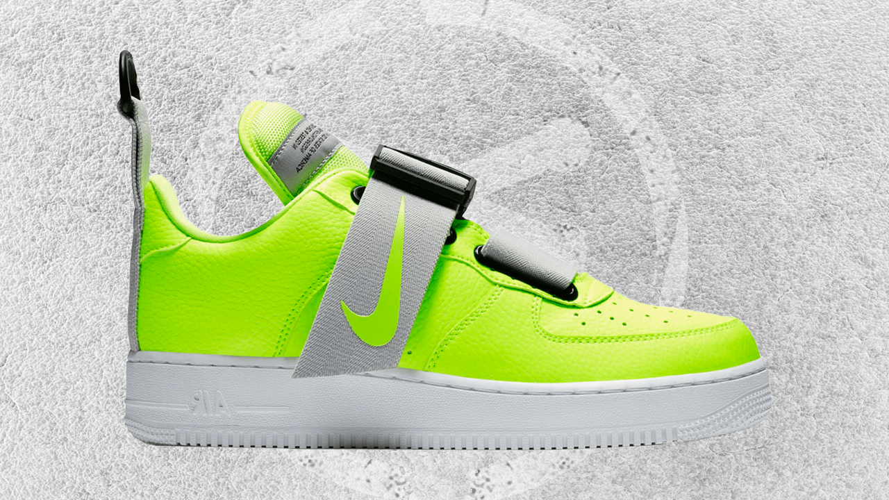 NIKE AIR FORCE 1 UTILITY VOLT,WHITE,BLACK FEATURED IMAGE