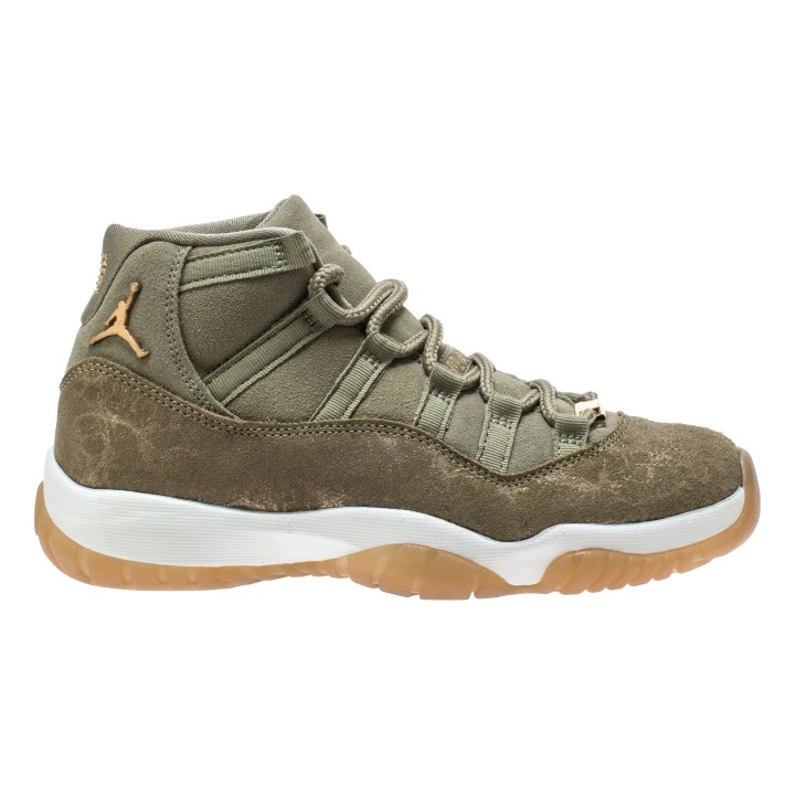 WMNS AIR JORDAN 11 RETRO NEUTRAL OLIVE:MTLC STOUT-SAIL 4