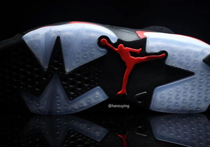 air jordan 6 black infrared outsole
