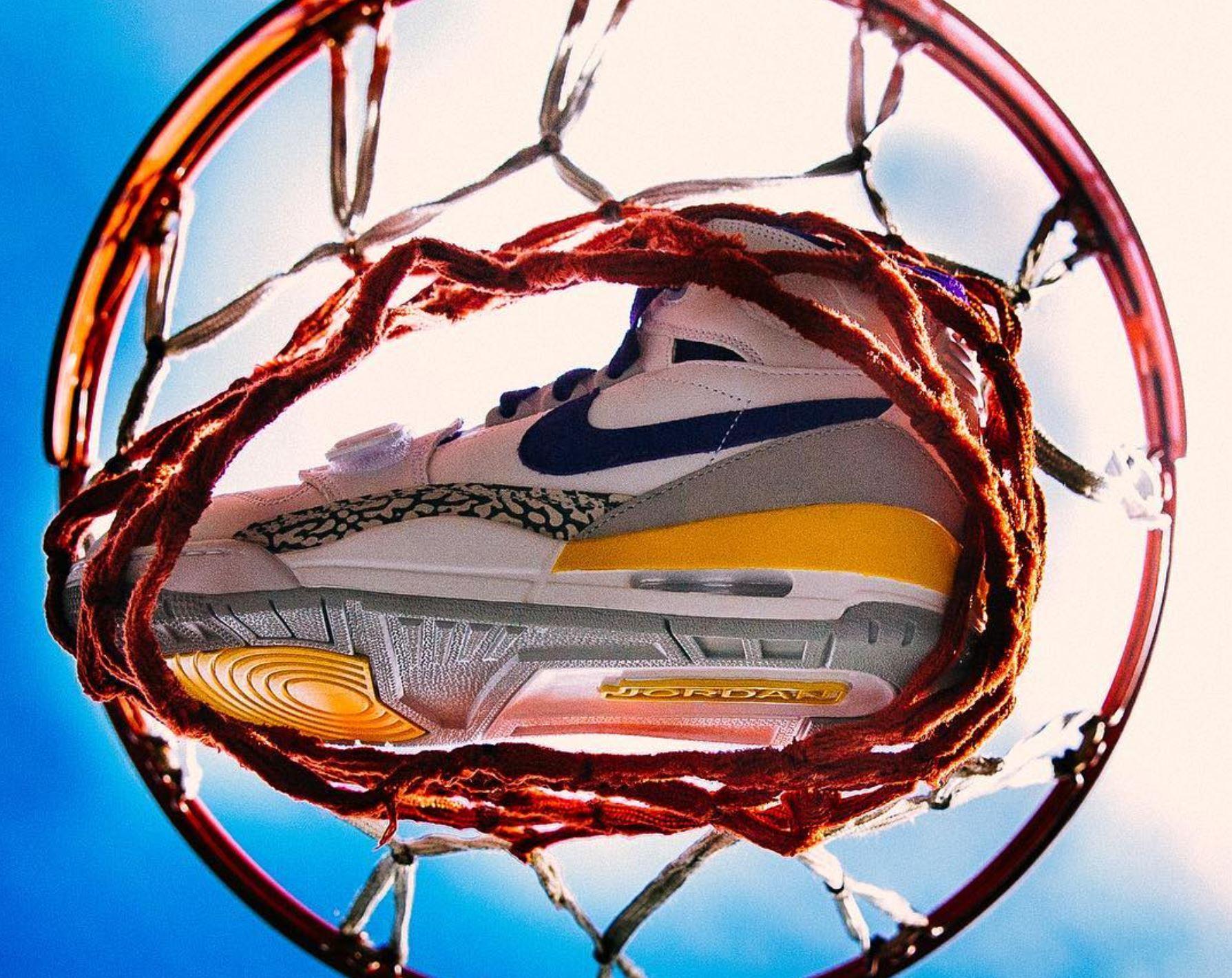 4d11cc21781 jordan legacy 312 lakers · Jordan Brand / Kicks Off Court / Retro Lifestyle  ...
