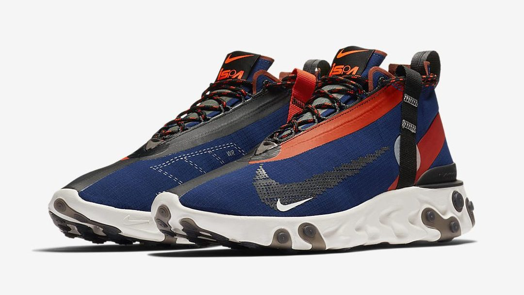 nike react runner Mid ISPA blue
