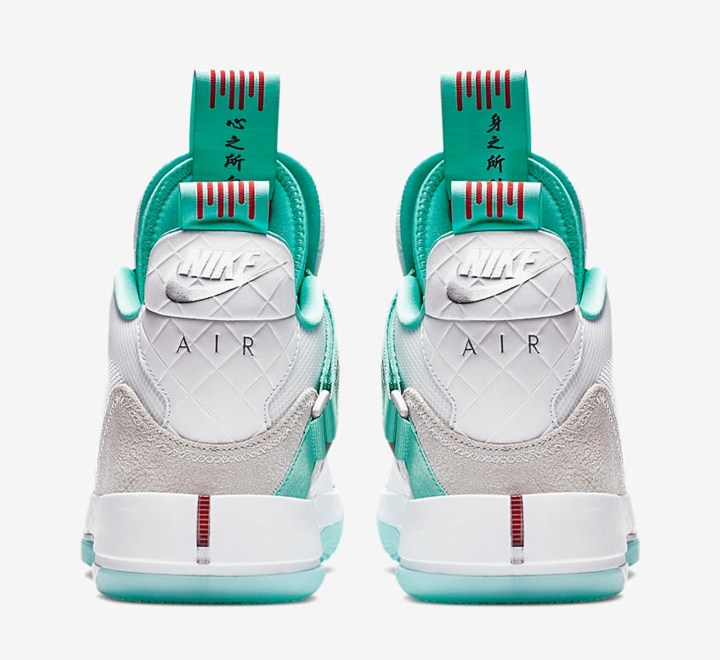 5b7f6a61d9c An Official Look at Guo Ailun's Air Jordan 33 'Jade' PE - WearTesters