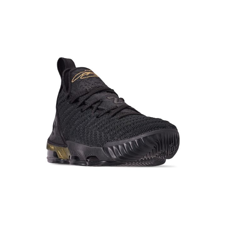 NIKE LEBRON 16 GS I'M KING BLACK : METALLIC GOLD 1