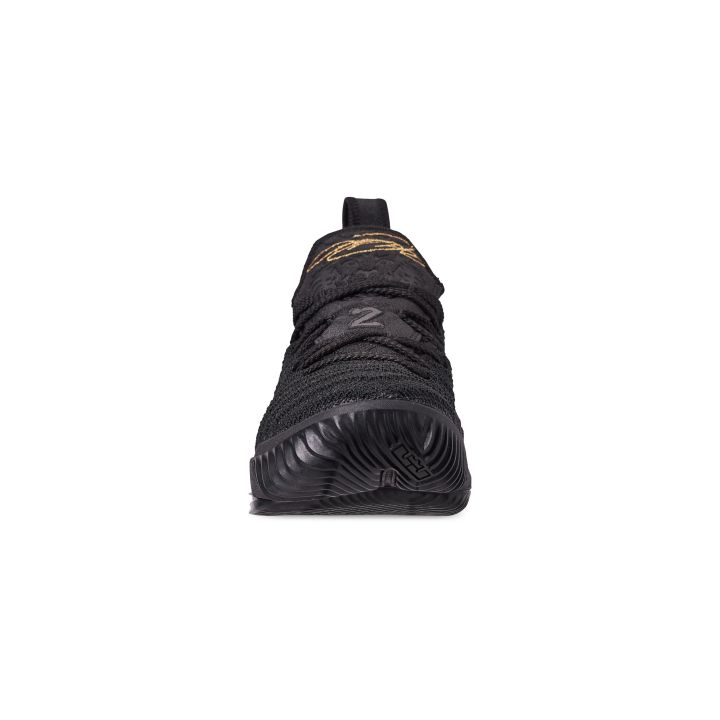 NIKE LEBRON 16 GS I'M KING BLACK : METALLIC GOLD 4