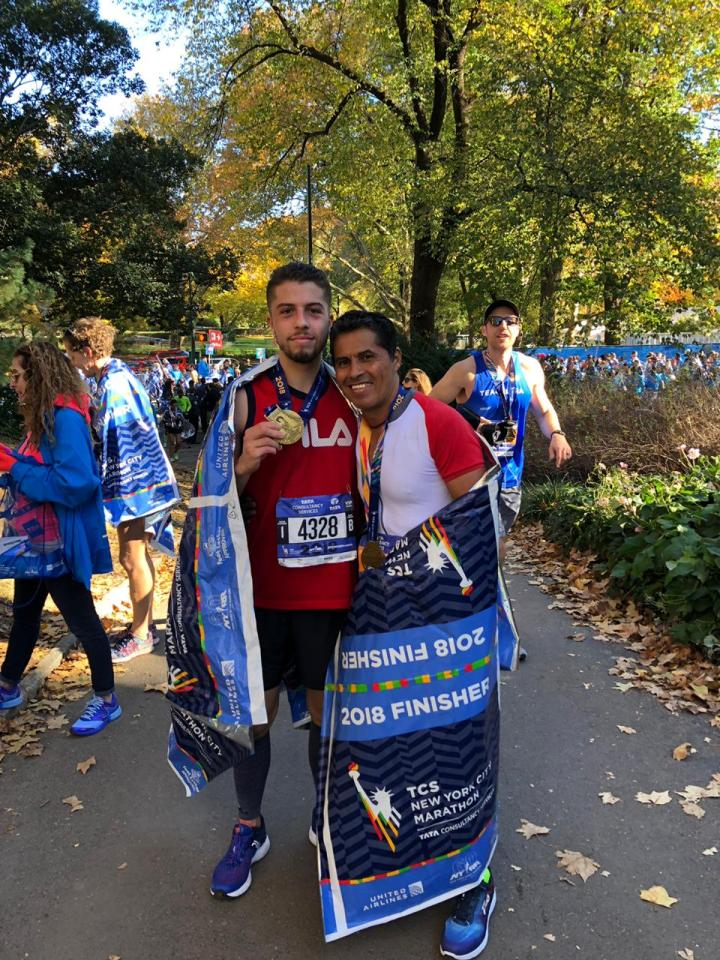 fila german silva son new york city marathon