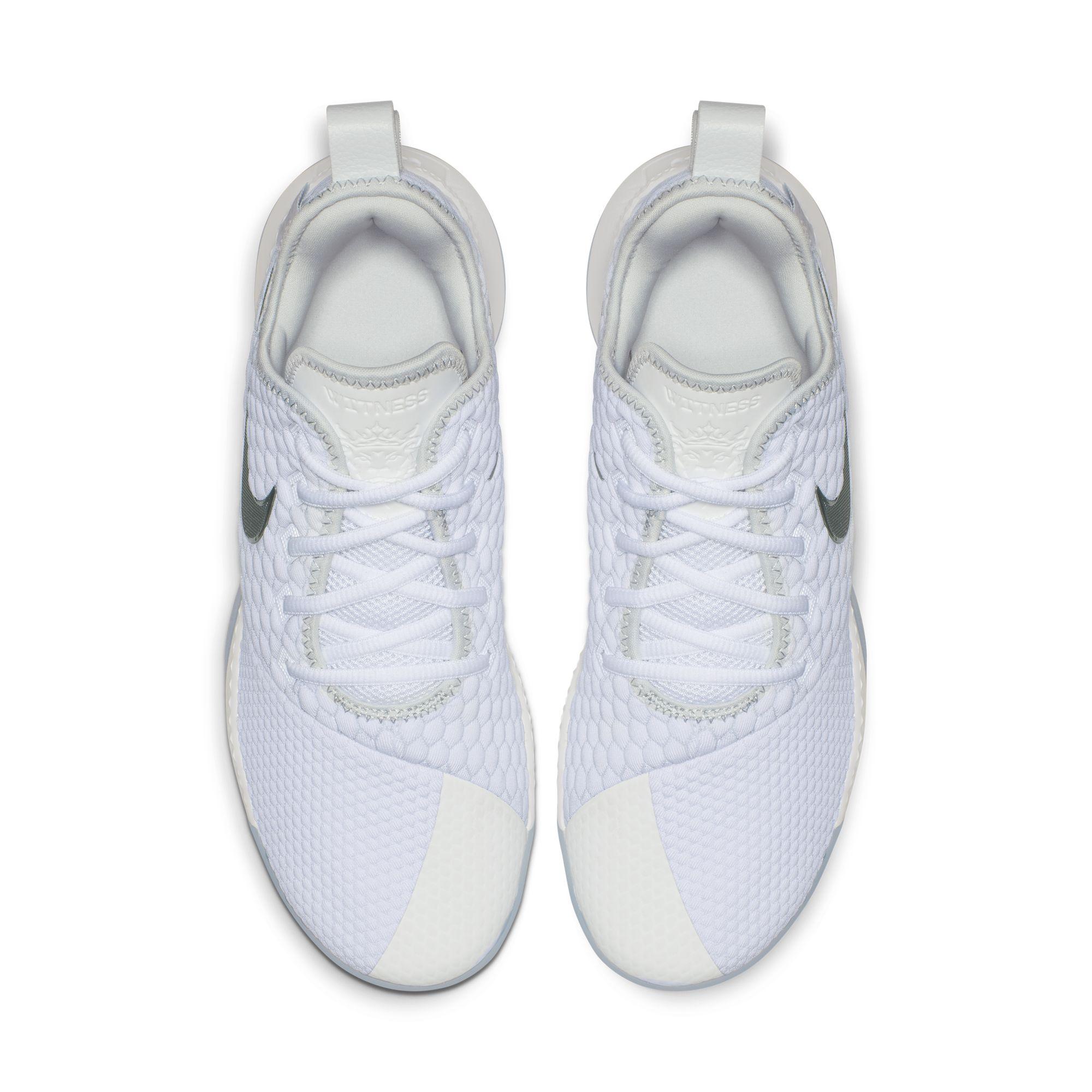 8ae60c4106e NIKE LEBRON WITNESS III WHITE CHROME-PURE PLATINUM 2 - WearTesters