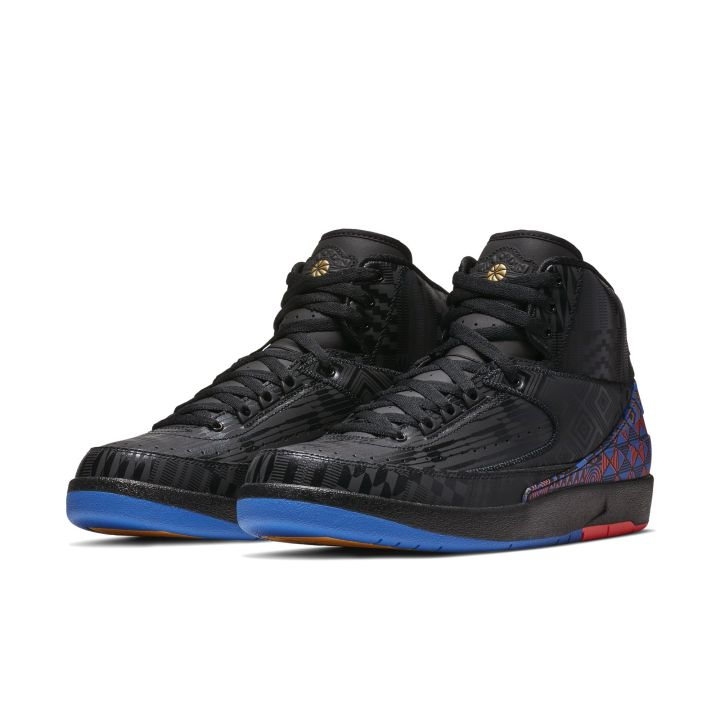 AIR JORDAN 2 RETRO BHM BLACK:METALLIC GOLD 1