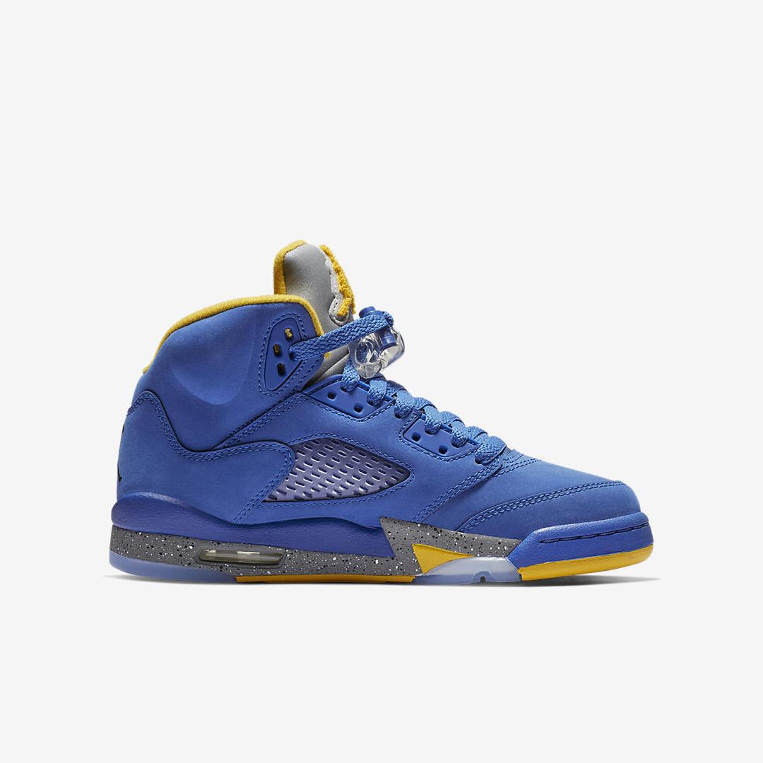 best sneakers d4203 df2e3 AIR JORDAN RETRO 5 LANEY JSP GS PS VARSITY ROYAL VARSITY MAIZE LT CHARCOAL 4