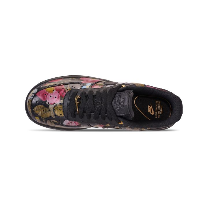 NIKE WOMENS AIR FORCE 1 '07 LXX BLACK:BLACK-METALLIC GOLD 4