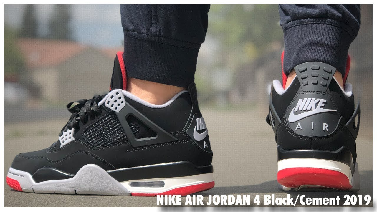 new styles af95f 9c89a Air Jordan 4 Retro Black Cement 2019   Review - WearTesters