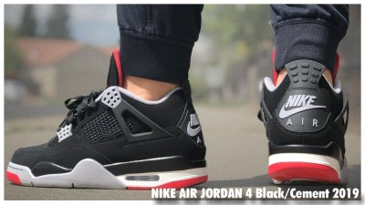 new style 8fdee 5a29f Air Jordan 4 Retro Black Cement 2019   Review