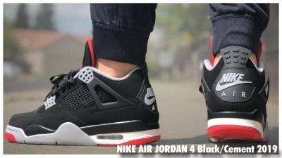 new style 5a2f9 b0a7e Air Jordan 4 Retro Black Cement 2019   Review