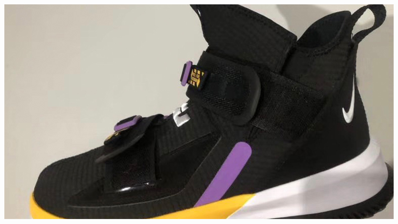 f1f5339d7cdbe Lakers Colors Appear on What Could be the Nike LeBron Soldier 13 ...