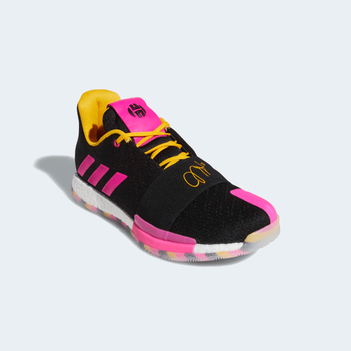 ADIDAS HARDEN VOL.3-SMU CORE BLACK:SHOCK PINK:ACTIVE GOLD 1