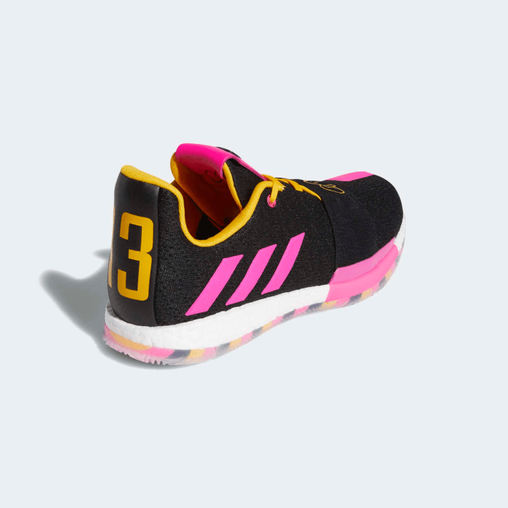 ADIDAS HARDEN VOL.3-SMU CORE BLACK:SHOCK PINK:ACTIVE GOLD 2