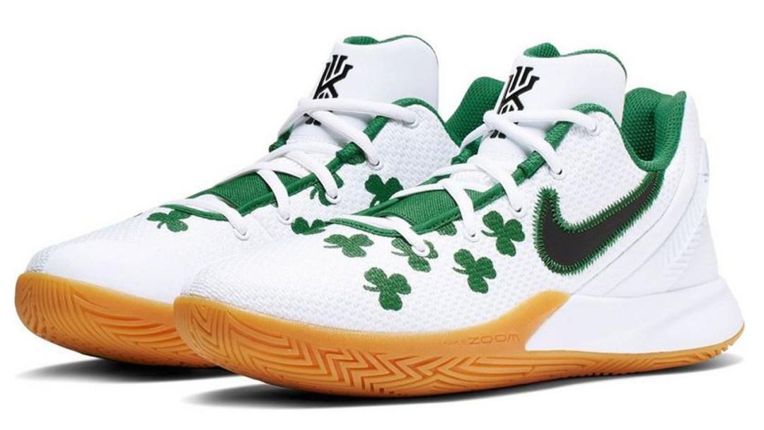 e1e5c0314c91 Kyrie Irving s Nike Kyrie Flytrap 2 Sports Celtics Pride - WearTesters