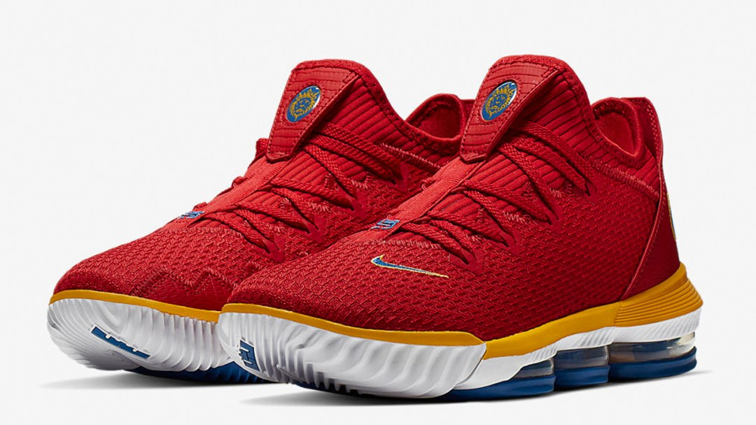 1671ea48266 An Official Look at the Nike LeBron 16 Low  University Red ...