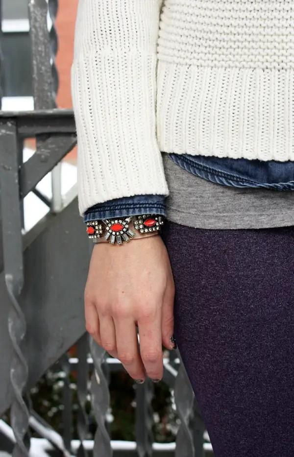 Snowy layers jcrew bracelet