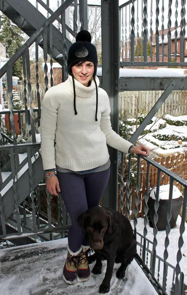 Snowy layers jcrew bracelet sorel boots chocolat lab