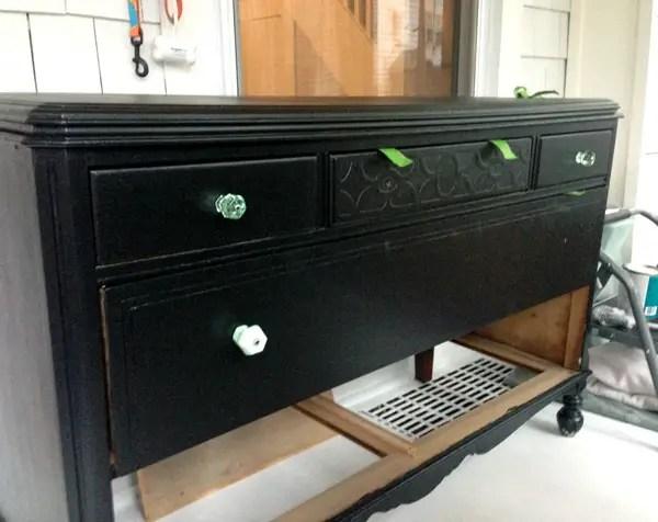 Vintage Dresser Turned Bathroom Vanity