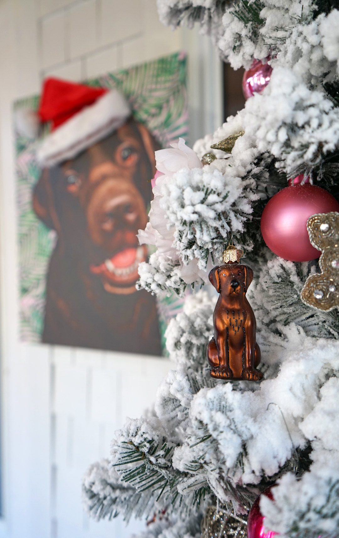 Easy Santa DIY For Lucy's Pop Your Pup Portrait
