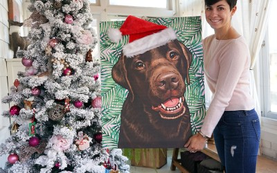 Easy Santa Artwork DIY For Lucy's Pop Your Pup Portrait
