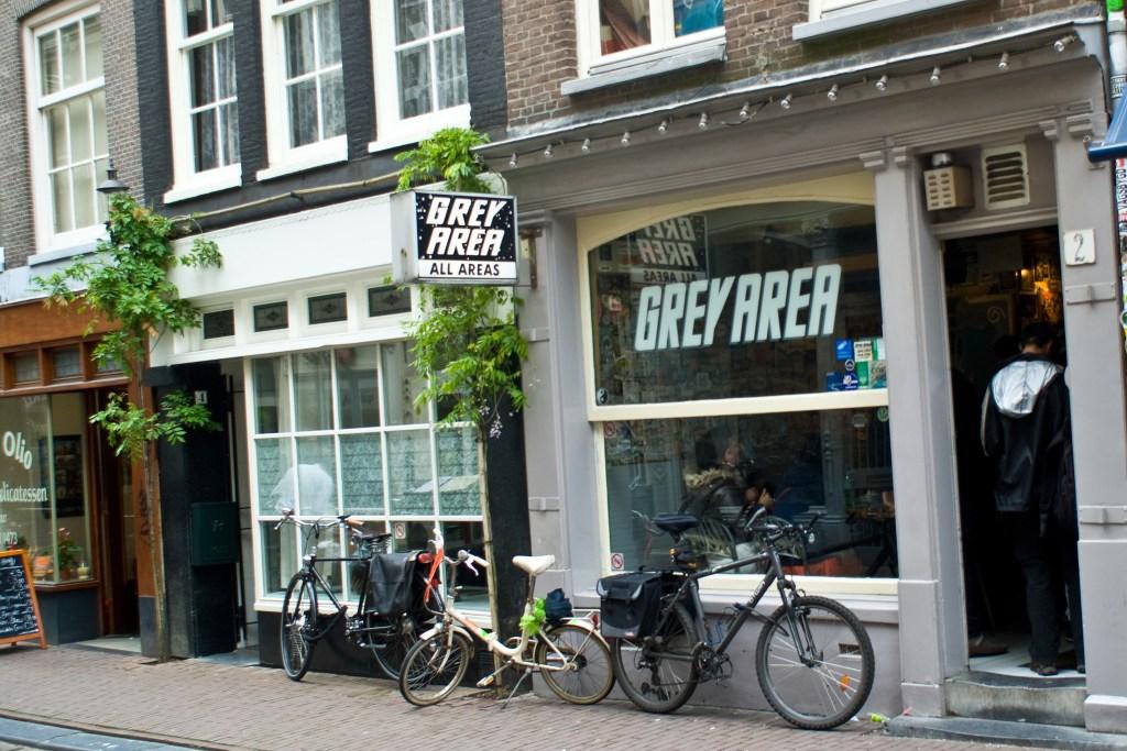 Outside of Grey Area Coffeeshop - Top 5