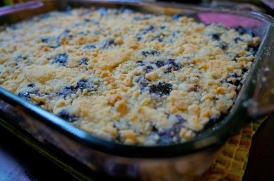 ^^ Blueberry Crumble for the dessert bar.