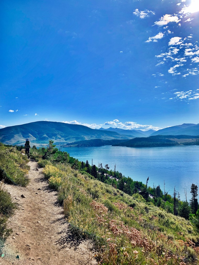 lake hikes at Old Dillon Reservoir Trail