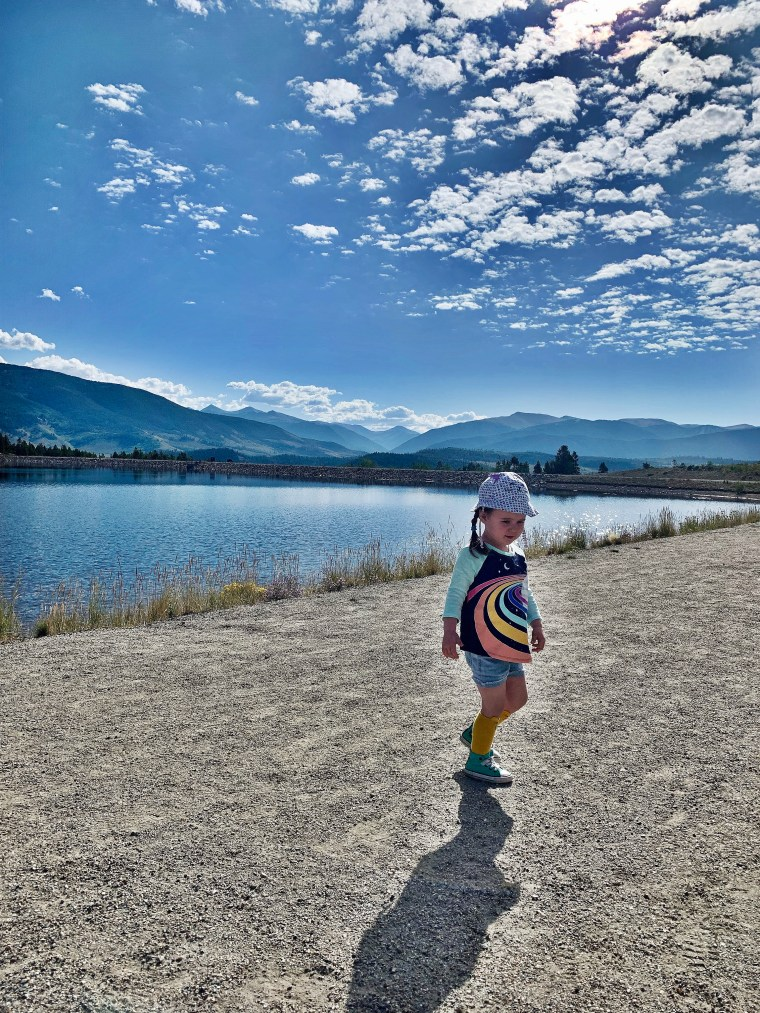 little girl at Old Dillon Reservoir Trail