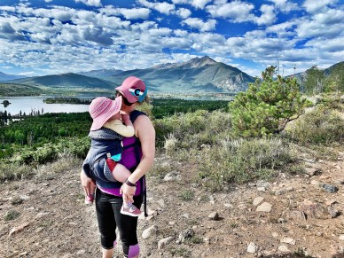 mountain views at Old Dillon Reservoir Trail