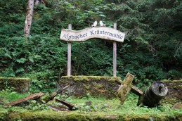 Sign showing the location of the Alpbach Herb Mill during our hike