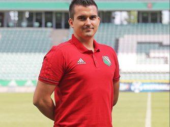 Coach Sebastian Rozycki of Legia Warsaw