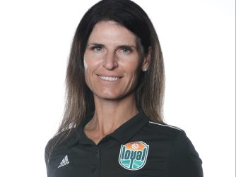 Coach Carrie Taylor of San Diego Loyal