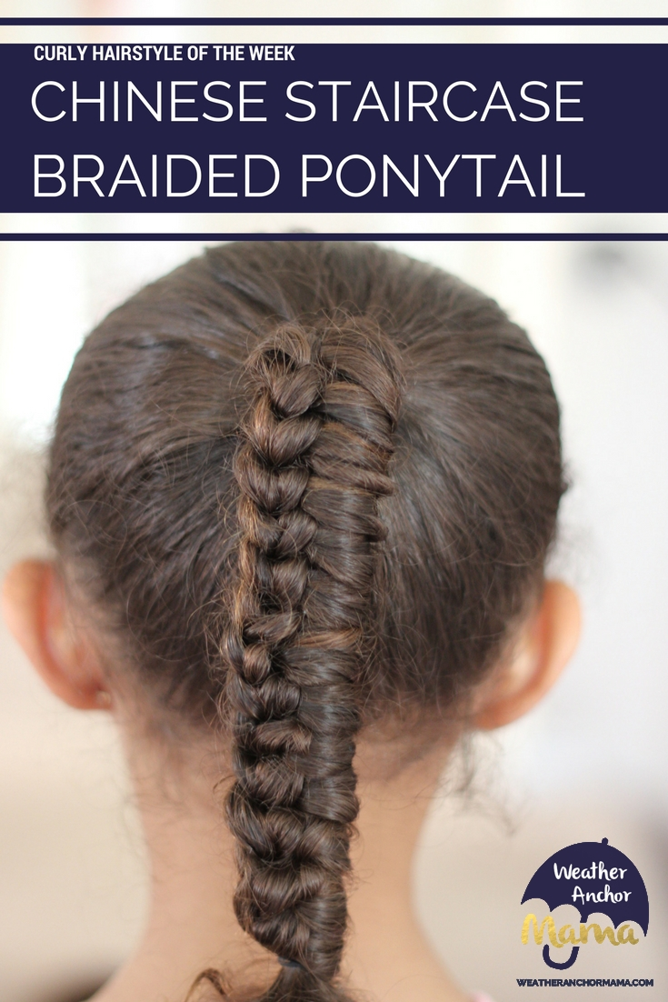 Curly Hairstyles Chinese Staircase Ponytail Braid