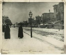 San Francisco Snowfall of February 5th, 1887.