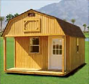 Weatherking lofted barn Cabi