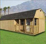 Weatherking side lofted barn Cabin