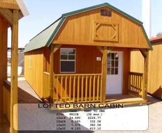Weatherking Lofted Barn Cabin