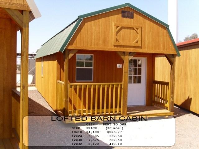 Weatherking Lofted Barn Cabin
