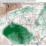 The NAM model depicts an extremely anomalous moisture plume on the order of 3-4 standard deviations above the mean. (NCEP via tropicaltidbits.com)