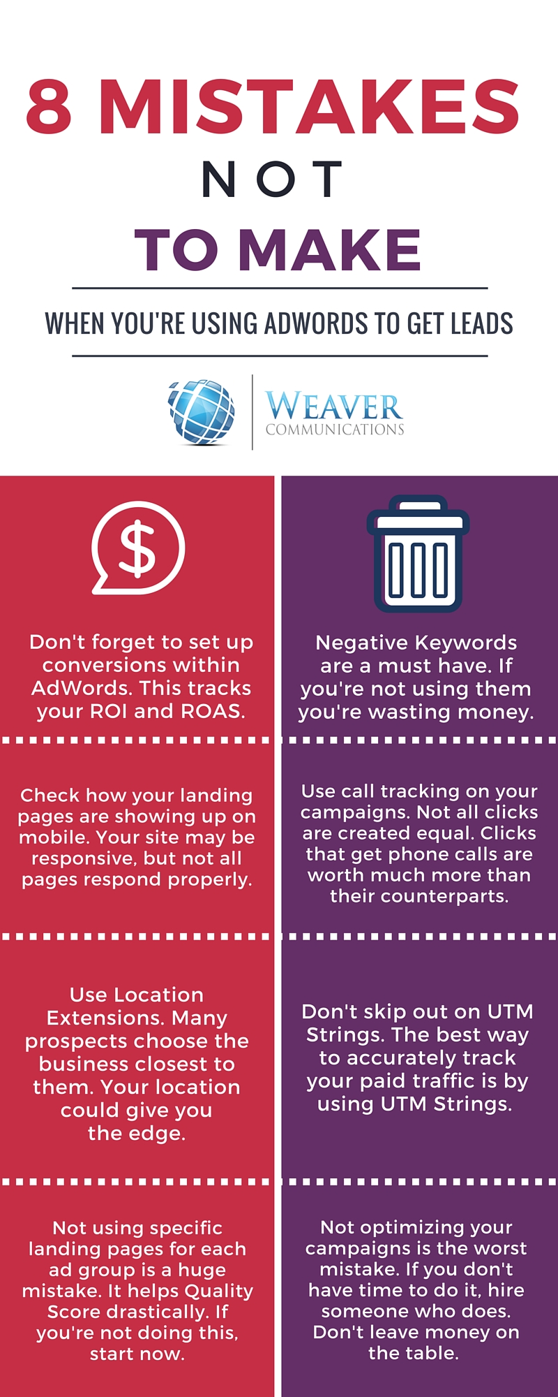 8 AdWords Mistakes NOT to Make with Lead Generation