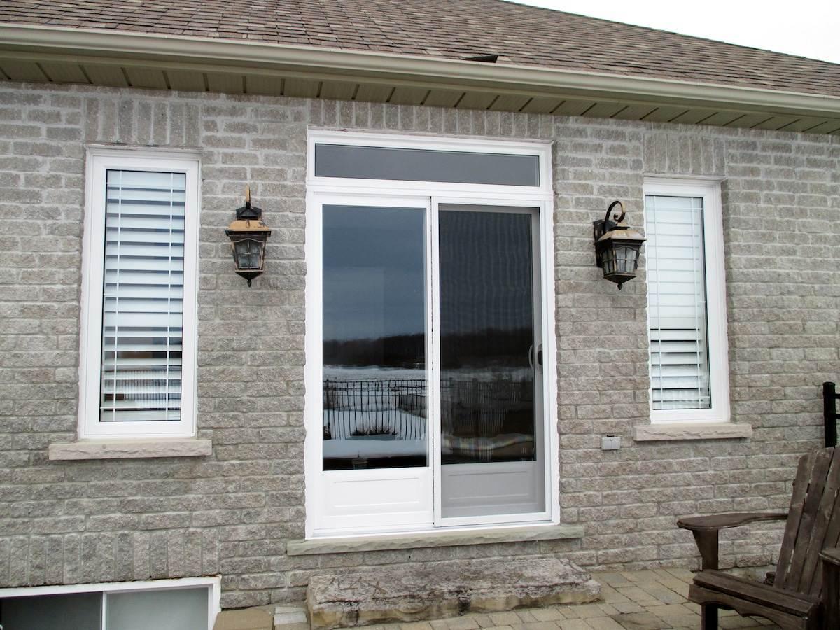 decorative patio door transom