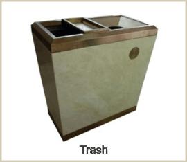 Trash receptacles and ash urns